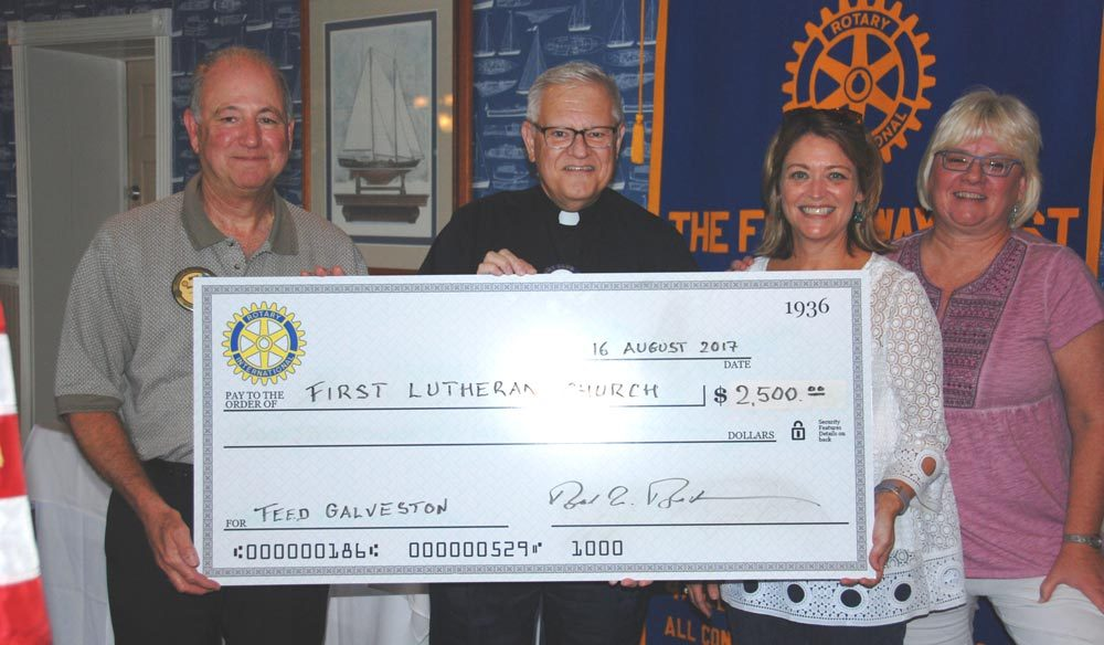 Rotary Club of Galveston Contributes $2,500 To FeedGalveston